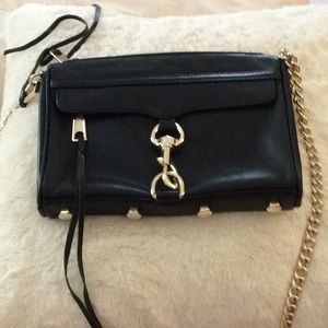 Rebecca Minkoff Mini Mac Black with gold metal